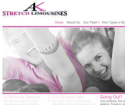 AK Stretch Limousines by IT-Serve web design Fife